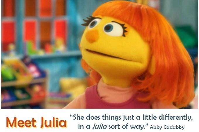 Julia on Sesame Street Has Autism
