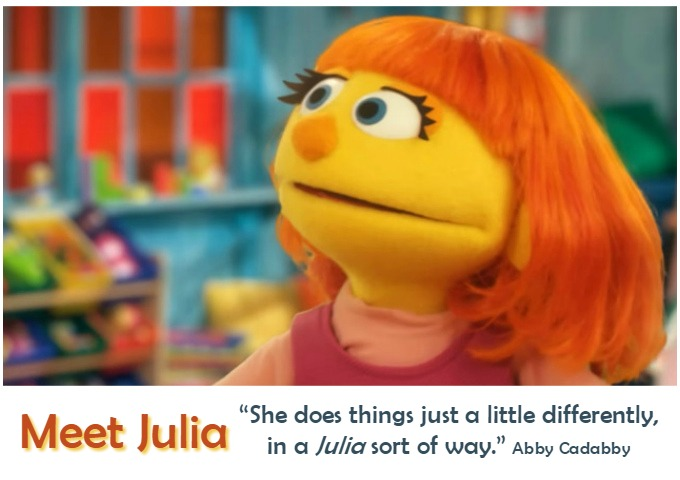 Julia on Sesame Street Has Autism
