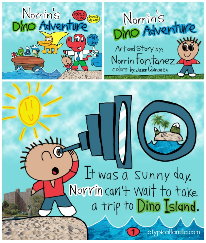 Click to purchase Norrin's Dino Adventure - art & story by an 11-year-old boy with autism. Proceeds will be donated to D3 Sports & Recreation - an autism organization in the Bronx