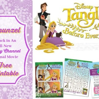 Rapunzel Returns in Tangled Before Ever After: Activity Pages
