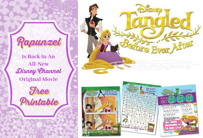 Rapuzel Tangled Coloring Sheets