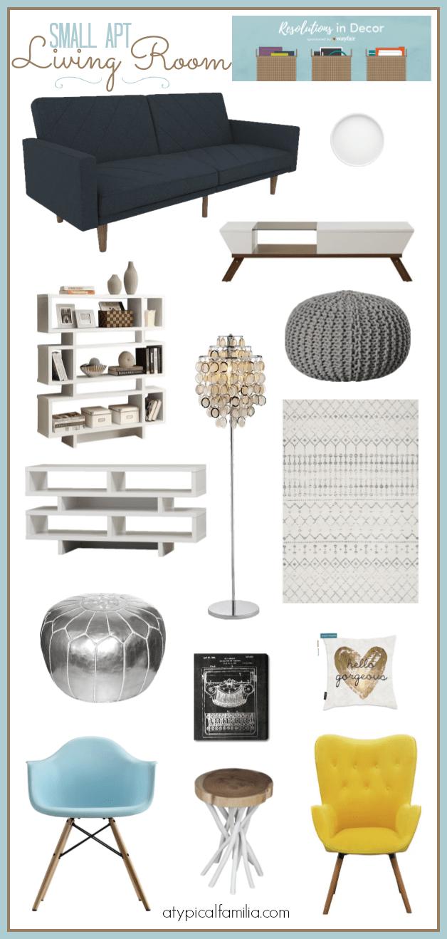 Small Apt Living Room Ideas via Atypical Familia by Lisa Quinones Fontanez