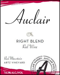Auclair Winery Right Blend