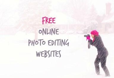 Free Online Photo Editing Websites