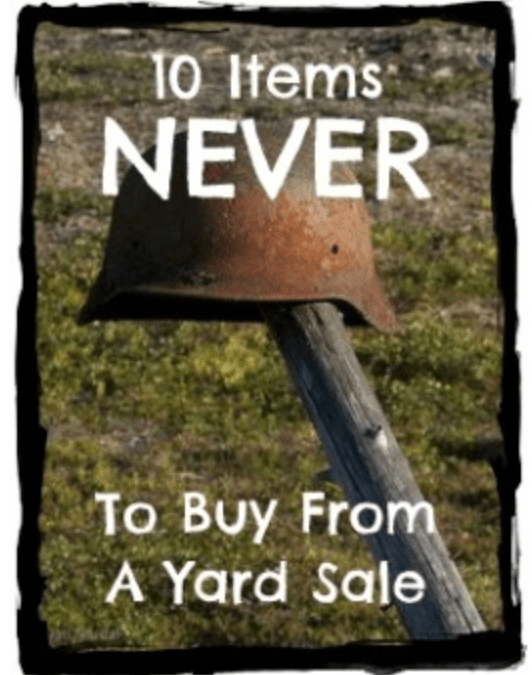 10 Items You Should Never Buy at a Garage Sale