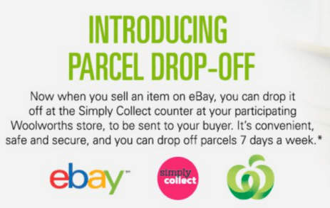 ebay woolworths parcel drop off service