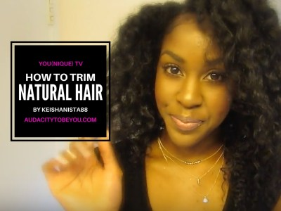 How to Trim Natural Hair