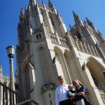 Us in front of the National Cathedral.