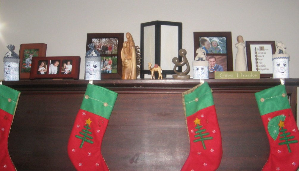 Stocking hung on the piano with care.