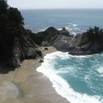 We stopped at McWay Falls and schemed ways to get to the private beach without getting caught.