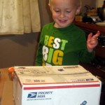 Cooper got a kick out getting packages in the mail.
