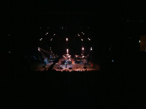 O.A.R. on stage at Red Rocks