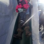 Ellen and I did go down a regular slide in one of the ice sculptures though since it wasn't wet, cold, and enclosed.