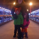 """Me and the kids on our """"Christmas Eve"""" walk."""