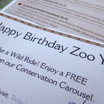 She also got some great coupons to use around the zoo.