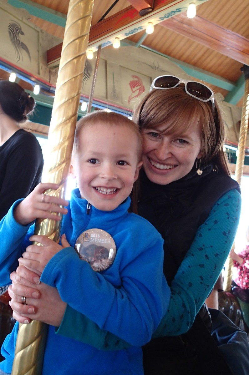 Me and Cooper on the carousel.