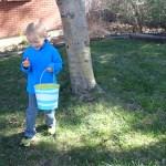 Cooper finds an egg.