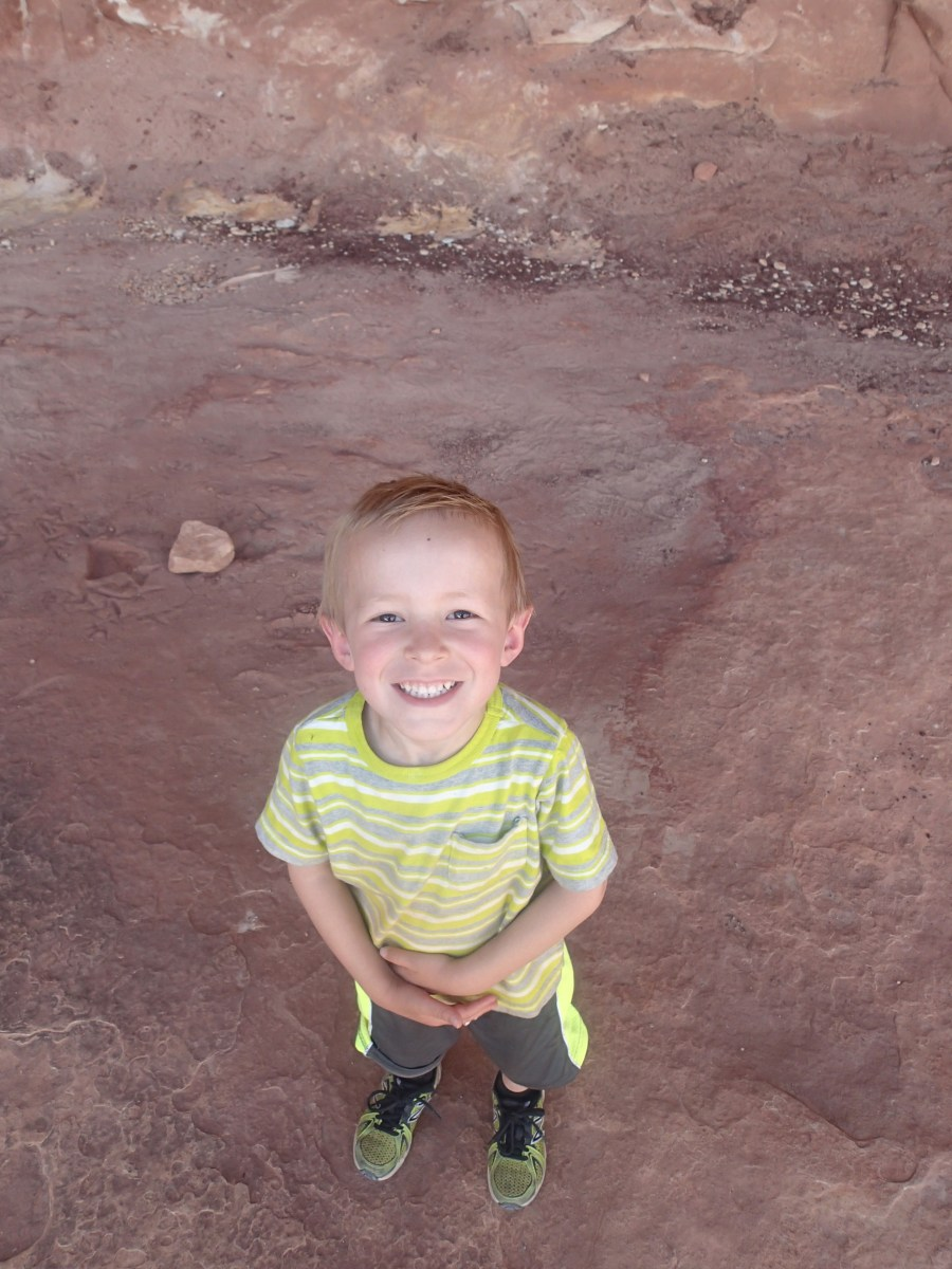 Cooper is generally our happy hiker. The kid has a good attitude and amazing endurance.