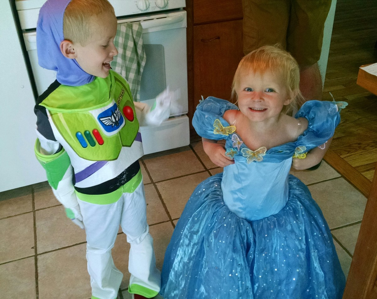 Buzz Lightyear and Cinderella.