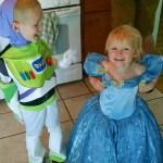 Buzz Lightyear and Cinderella.