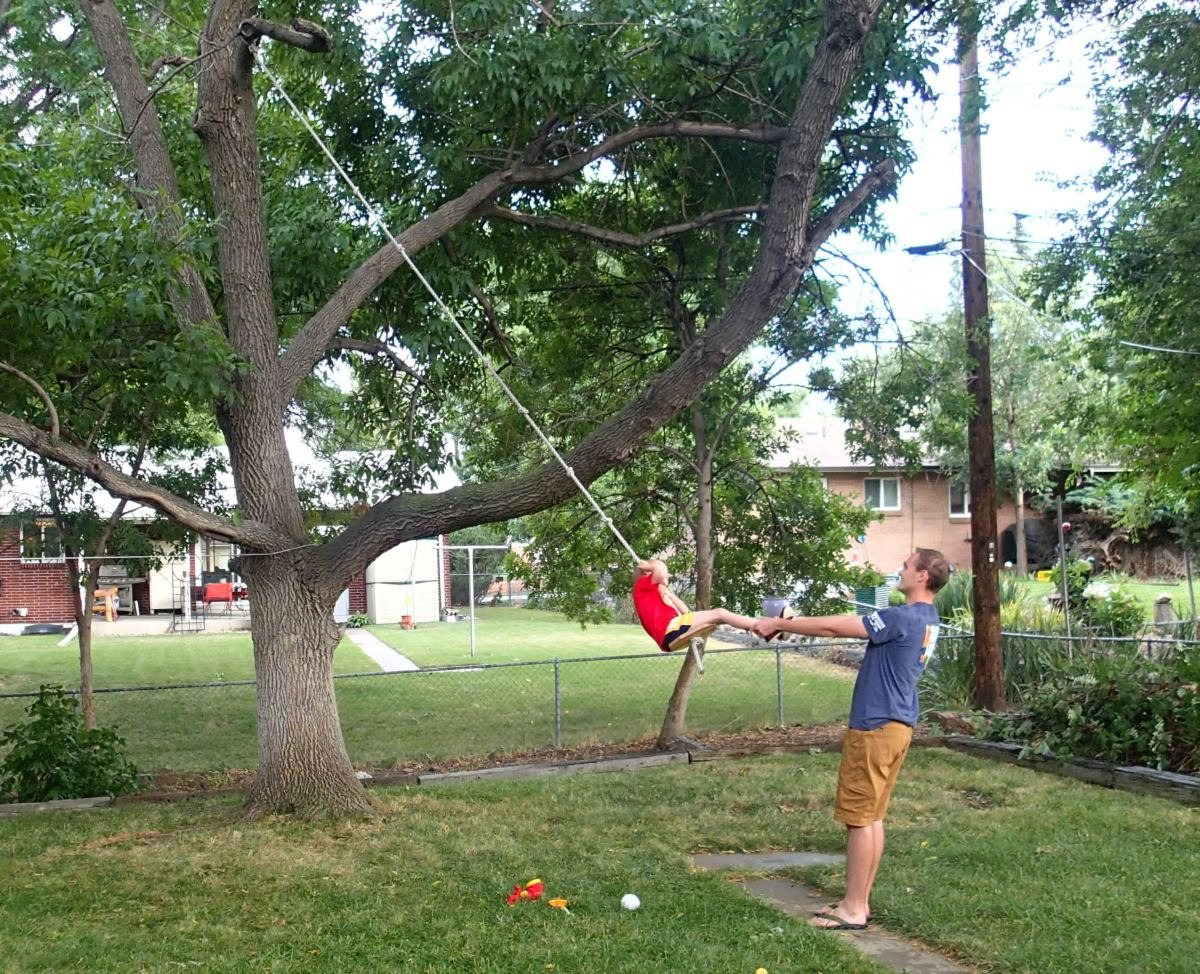 Fun with the tree swing.