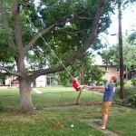 Fun with the tree swing.