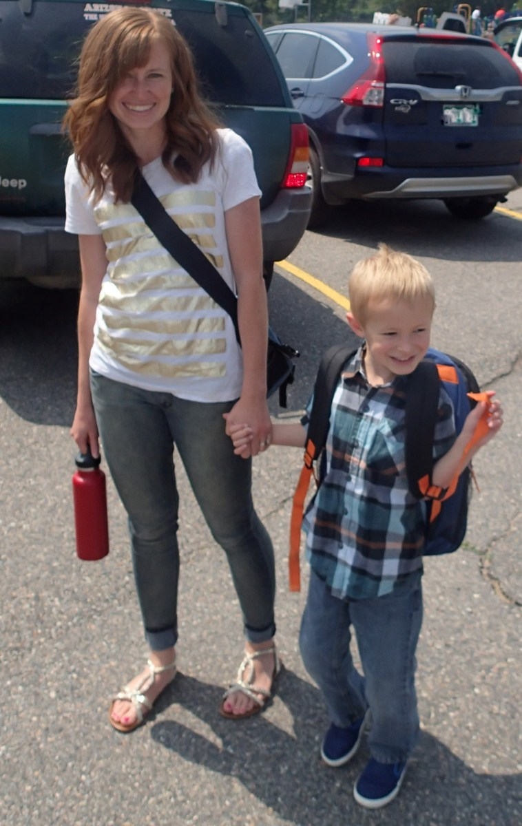 I'm going to be so sad when it's not cool for me to hold his hand and walk him into school.