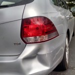 Our car got in its first accident (okay, I got it in it's first accident), a little fender bender at the library. It was determined we were equally at fault, no one was hurt, and the damage is only cosmetic.