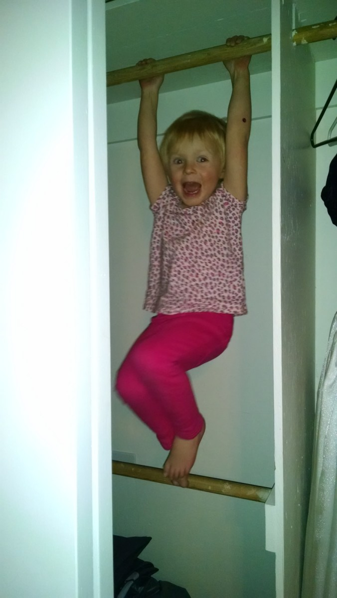 A monkey in the closet.