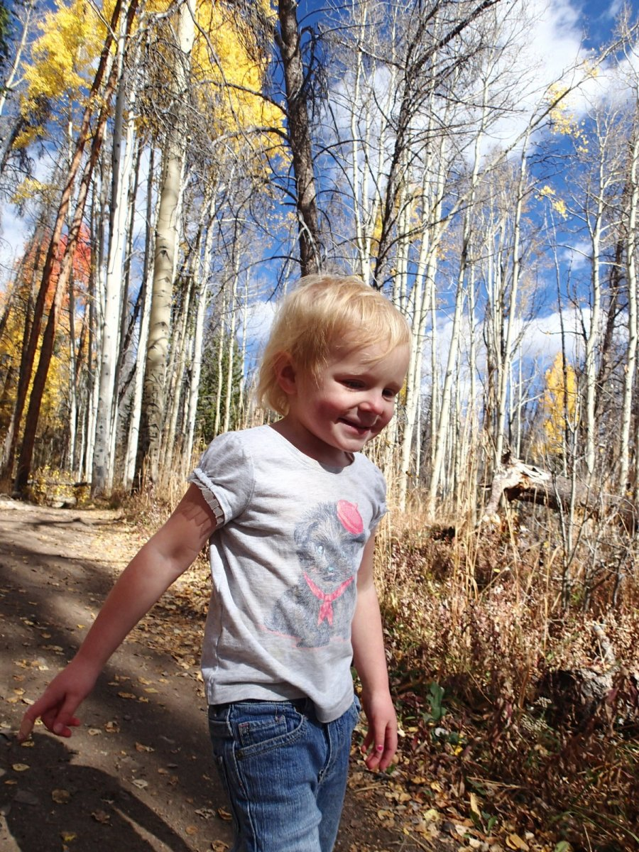 We went on another fall hike during conference sessions and Ellen's attitude was much better this time.