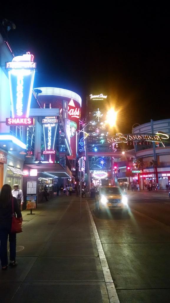 Downtown Las Vegas.