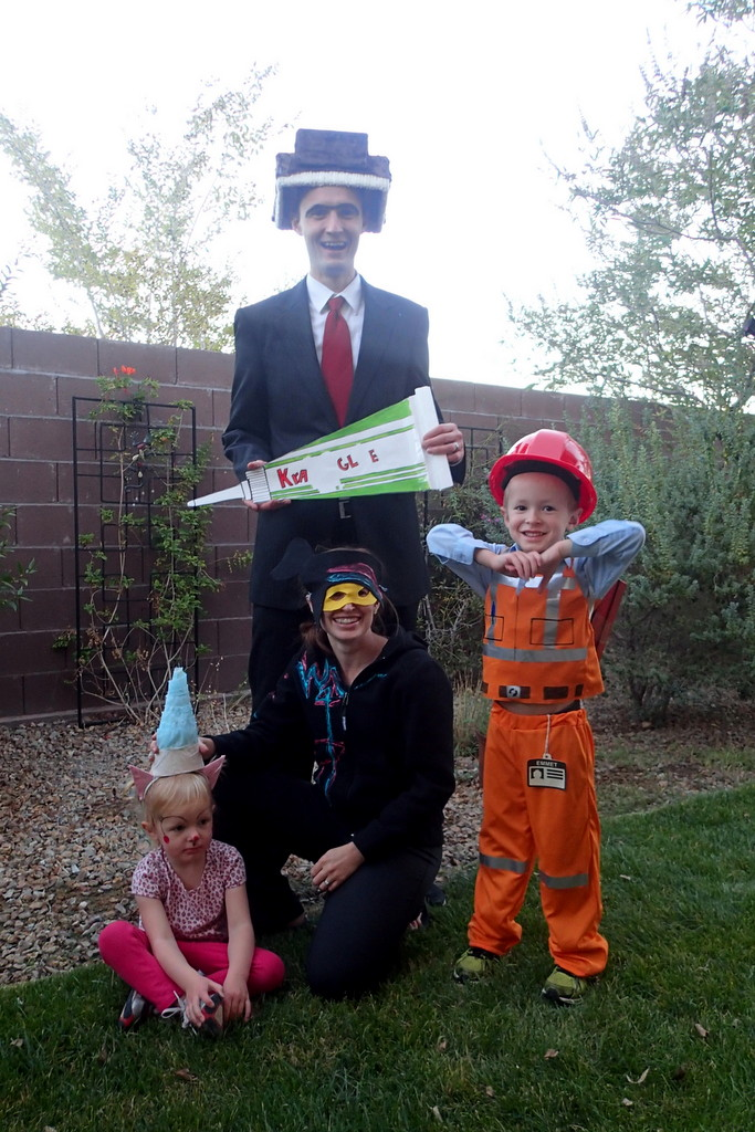 This was the best picture we got. Ellen did cheer up significantly during trick-or-treating.