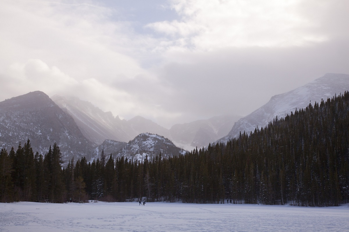 A picturesque view of the lake we hiked around. (Bear Lake)