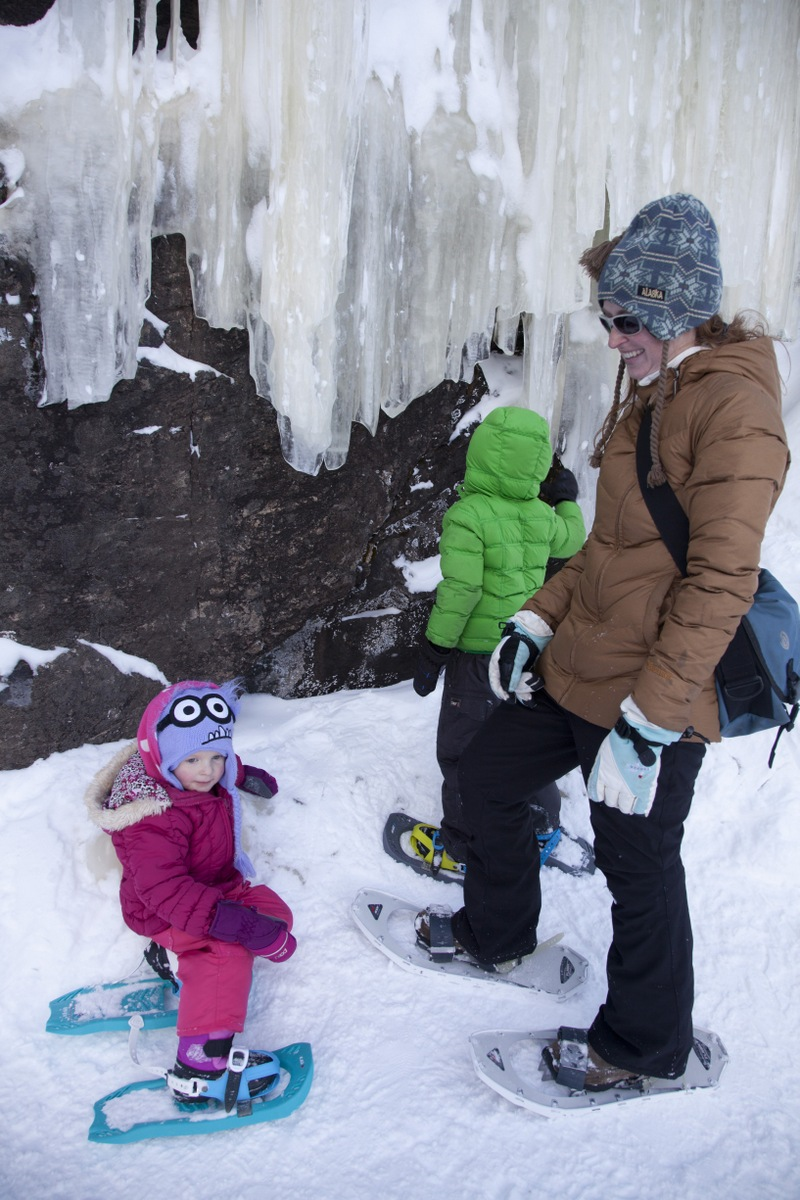 The kids were fascinated by these icicles.