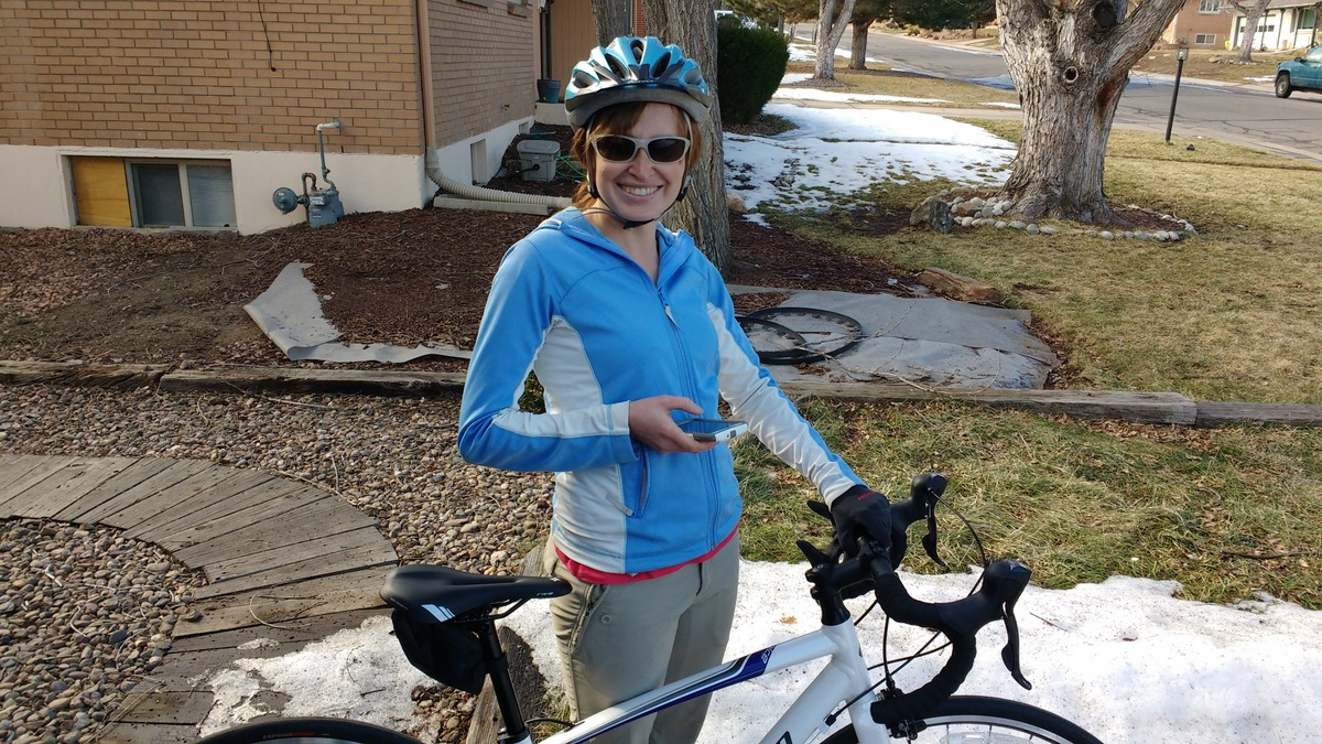 This weekend was alarmingly warm. It hit 60 degrees and I had to take my bike out for a ride.