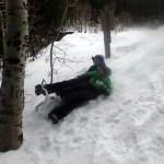 Some expert (cough) sledding.