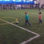 Cooper got invited to a birthday party for a friend from school. Where he played soccer.