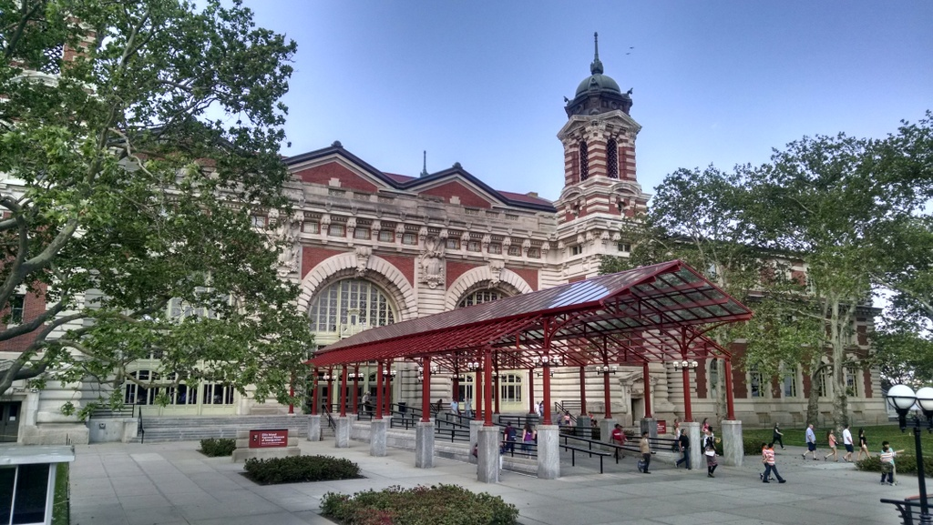 The main building at Ellis Island.