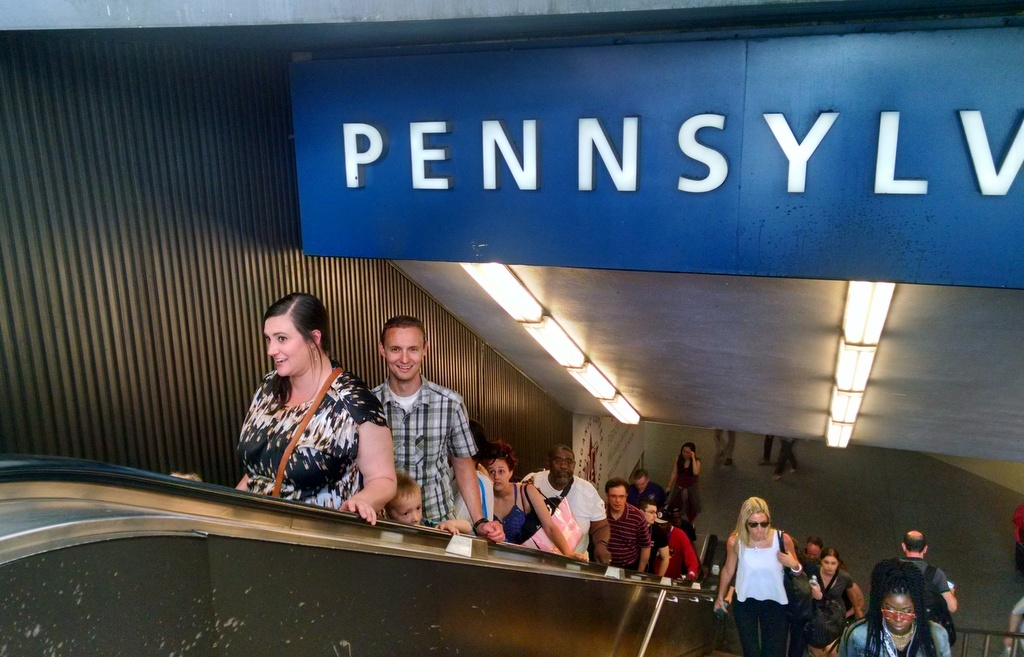 Penn Station, NY. Our train was four levels underground.