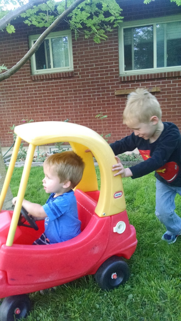 Cooper pushing Porter in the car. Lots of tender moments between these two.