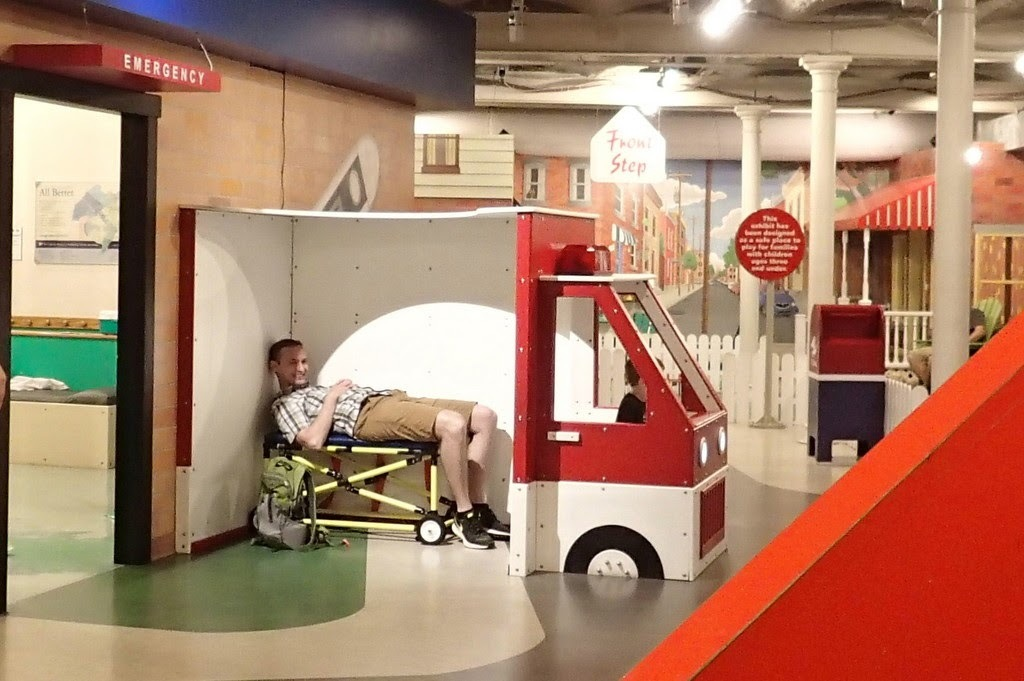 A kid, not ours, convinced Noel he was injured and drove him to the hospital!