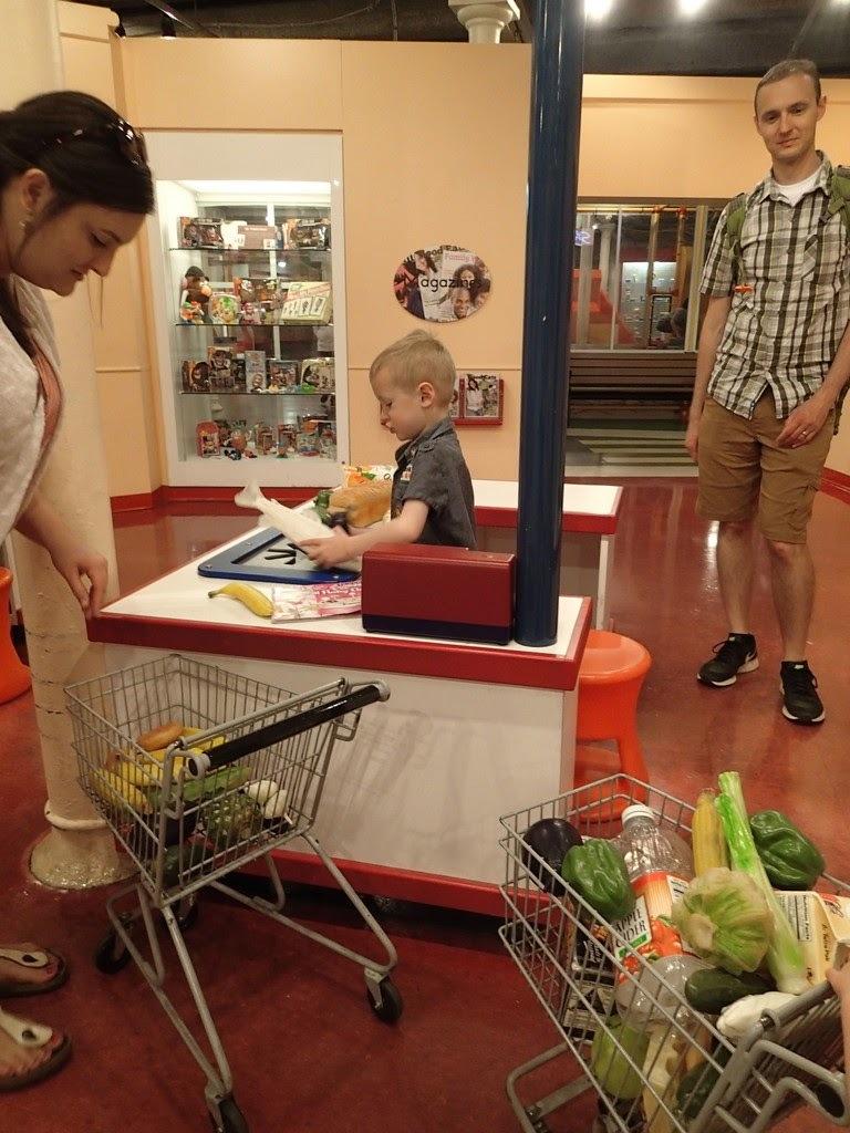 Cooper enjoyed playing cashier.