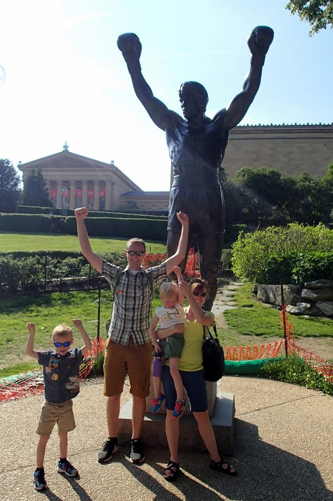 Another wonderful family picture in front of the Rocky Statue.