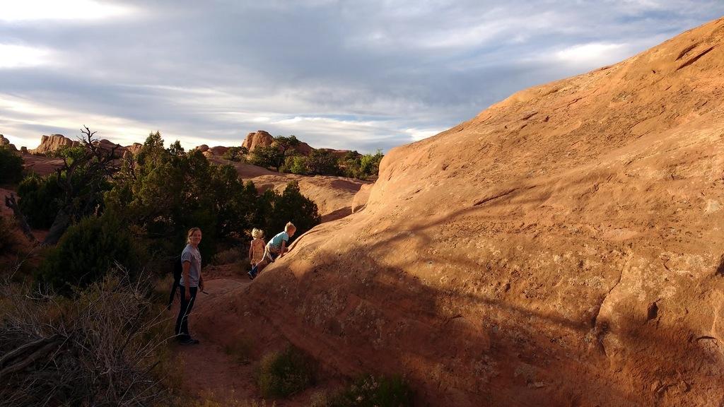 Climbing with Grandma Cindy.