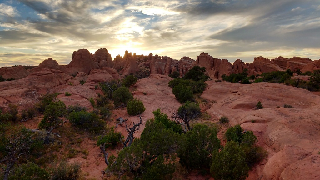 Sunset at Arches.