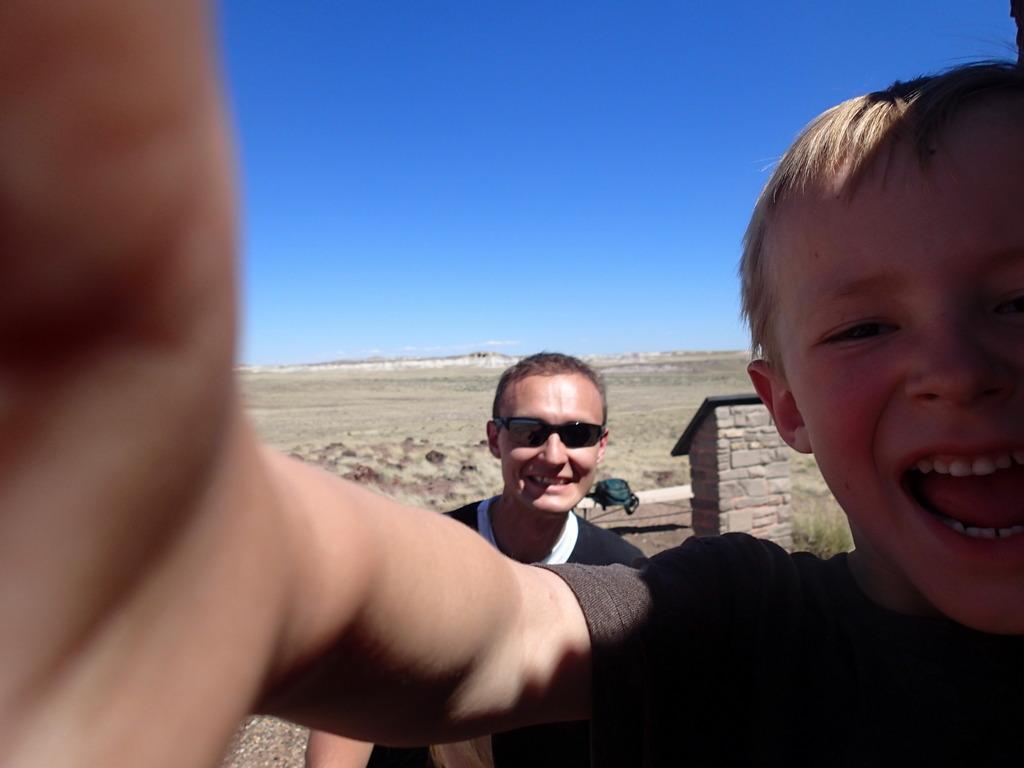 A selfie Noel photo bombed.