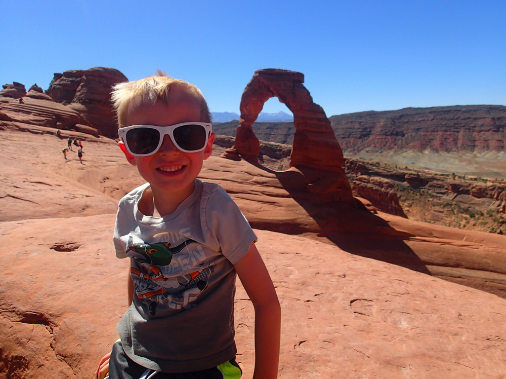 Cooper at Delicate Arch.