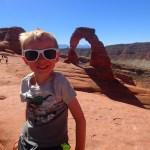 Cooper at Delicate Arch.