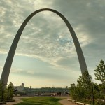 Noel went to St. Louis for work and saw the Gateway Arch. Then flew to UT to join us.