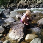 We took the kids on a trail up a nearby canyon.  They had a blast playing in the stream.